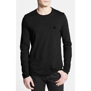 Burberry Long Sleeve Black Cotton Tshirt